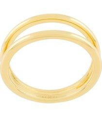 eshvi layered double ring - metallic