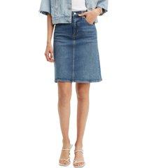 levi's classic denim skirt