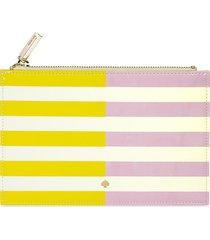 kate spade new york striped 6-piece pencil pouch set - yellow pink