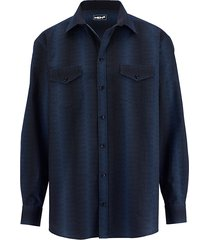 overhemd men plus royal blue::zwart