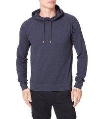 men's good man brand legend slim fit pullover hoodie, size large - blue