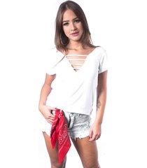 blusa de tiras up side wear branca