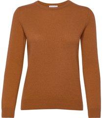 basic sweater stickad tröja orange davida cashmere