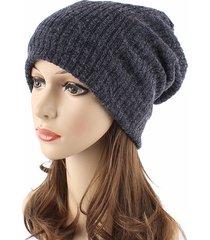 cappello di lana caldo invernale invernale cappello di lana caldo a righe per esterni cappellini a scollo