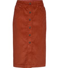 corduroy button-front midi skirt knälång kjol orange gap