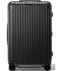 rimowa essential check-in medium 26-inch wheeled suitcase - black