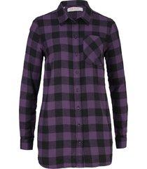 camicia lunga in flanella (viola) - john baner jeanswear