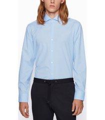 boss men's jason slim-fit gingham shirt