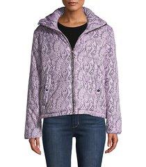 snakeskin-print puffer jacket