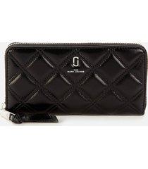 marc jacobs women's standard continental wallet - black