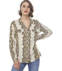 blusa camisera i cafe snake  corona