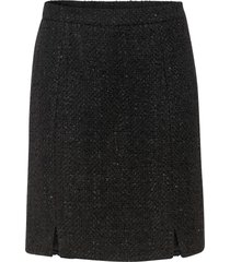 gonna in tweed con lurex (nero) - bodyflirt