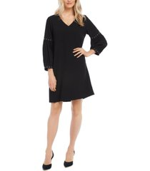 karen kane studded-sleeve shift dress