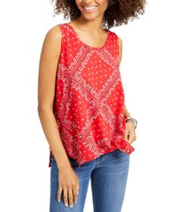style & co petite bandana-print tank top, created for macy's