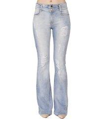 calça jeans flare estonada handbook feminina