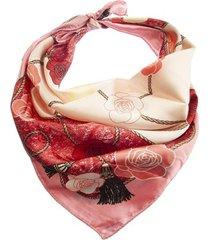 pañuelo rosa bohemia estampa flores