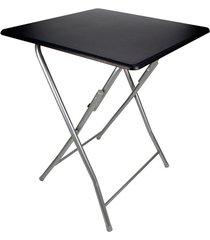 mesa dobrável em aço 60x60x75cm preta