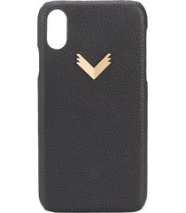 manokhi x velante embossed iphone xr case - black