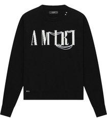 cashmere crewneck sweater black