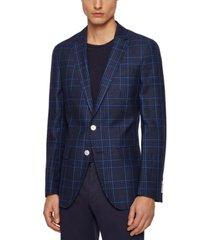 boss men's glen-check slim-fit jacket