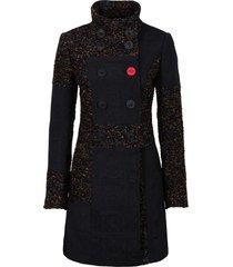 cappotto corto patchwork in mix di tessuti (nero) - rainbow