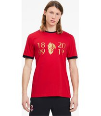 ac milan 120-jarig bestaan t-shirt voor heren, rood/goud/aucun, maat xs | puma