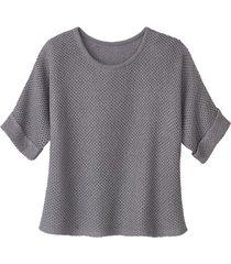 gebreide trui van linnen, zilver 40