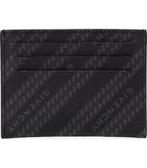 givenchy chain logo-print cardholder - black