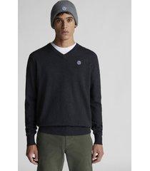 maglione con scollo a v