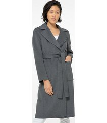 mk cappotto double-face in misto lana - marrone derby (grigio) - michael kors