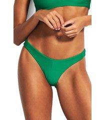 women's seafolly high-cut bikini bottoms, size 8 us / 12 au - green