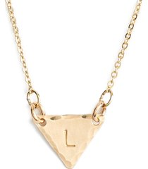 nashelle 14k-gold fill initial triangle necklace in 14k gold fill l at nordstrom