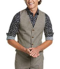 paisley & gray slim fit suit separates vest gray & brown houndstooth