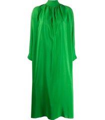 gianluca capannolo endora high-neck chiffon dress - green