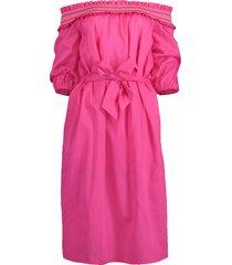 off shoulder belted dress