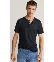 henley-shirt van 100% linnen