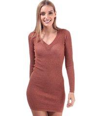 brave soul metallic v-neck jumper dress size 16 in pink