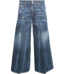 wide leg jeans w/coulotte