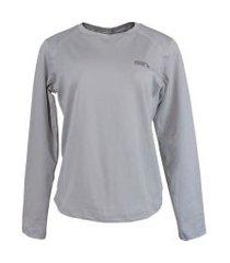 blusa térmica feminina segunda pele thermo premium original regular fit - cor cinza