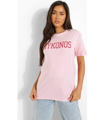 oversized mykonos t-shirt, pink