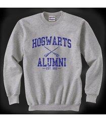 ha1 hogwarts alumni blue ink unisex crewneck sweatshirt light steel