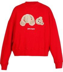 palm angels teddy bear sweatshirt