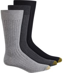 gold toe adc canterbury 3 pack crew dress men's socks