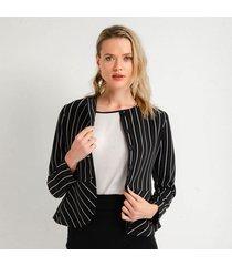 chaqueta para mujer en poliester multicolor