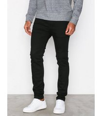 selected homme slhskinny-pete 1001 black st jns w jeans svart