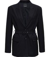 pinko single breasted wool blazer with belt