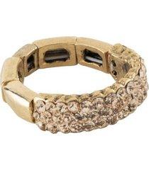anel armazem rr bijoux tres fios cristais rose dourado