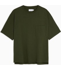 mens considered khaki boxy pocket organic cotton t-shirt