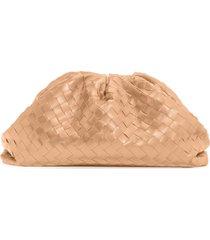 bottega veneta intrecciato leather pouch - beige