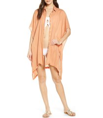 women's l space anita cover-up shirtdress, size x-small/small - beige